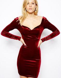 Velvet sexy dress