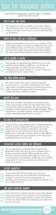 infographic - 10 Tips to Making Your Website and Portfolio Stand Out in the Crowd