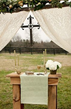 Celtic Countryside Nuptials - I WISH I HAD A LOOM, I WOULD SO WEAVE A WEDDING ALTAR CLOTH!