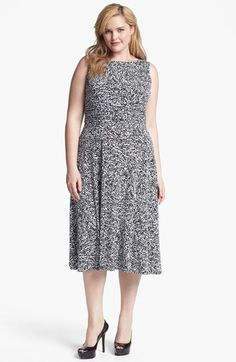 6f3e86ec89e Jessica Howard Print Sleeveless Jersey Dress (Plus Size) available at   Nordstrom Groom Dress