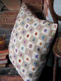 Kaffe Fassett Mini Squares Cushion (free pattern from Rowan)