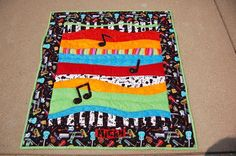 """music quilt ideas   DIY#Baby """"Surrounded by Music"""" by shasha32...   Quilting Ideas"""