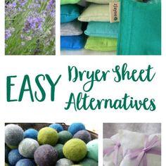 Easy Dryer Sheet Alternatives
