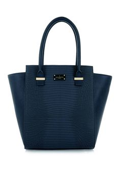 Paul's Boutique Mila structured Tote Bag in Navy Blue Snakeskin Navy Tote Bags, Paul's Boutique, Tote Bags Online, Blue Handbags, Clutch Purse, Birkin, Fashion Bags, Purses And Bags, Navy Blue