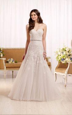 ce47e2d9948 D2122 Strapless A-line wedding dress by Essense of Australia Pretty Wedding  Dresses