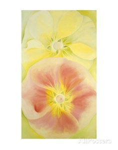 Pink and Yellow Hollyhocks, c.1952 Prints by Georgia O'Keeffe at AllPosters.com