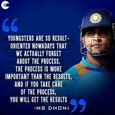 Best Quotes By Ms Dhoni On Motivation - Best Quotes By Ms Dhoni On Motivation and Ms Dhoni Shares His Success Mantra With Youngsters. New Quotes, Motivational Quotes, Life Quotes, Inspirational Quotes, India Cricket Team, World Cricket, Cricket Sport, Success Mantra, Success Quotes