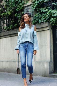 a2695c714f Sorteo  ¿Te vienes conmigo a MBFWM  (ladyaddict. Light Blue Jeans ...