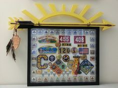 Arrow of Light award and Cub Scout shadow box
