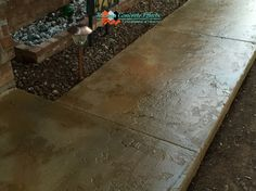 Stained Concrete Overlay Sidewalk by Texoma Concrete Effects in Wichita Falls, Tx.