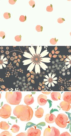 The Perfect Peach Projects! Peach inspired design resources, fabrics, and more.