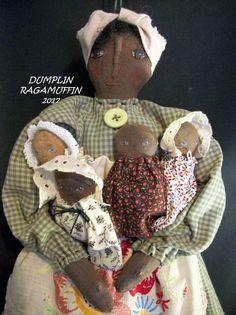 Primitive black folk art mammy doll, home decor, Original by Dumplinragamuffin #BlackFolkArt #Myself