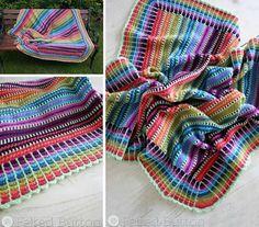 Skittles Crochet Blanket Pattern
