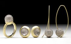 Geoffrey D. Giles a series of gold jewelry at the Fine Arts Festival, May 2013 #RestonTownCenter