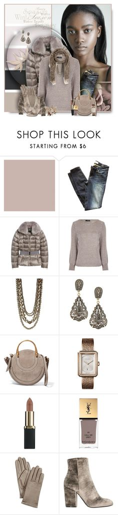 """Taupe"" by perla57 ❤ liked on Polyvore featuring SANDERSON, Marc by Marc Jacobs, Ted Baker, Kenneth Jay Lane, Heidi Daus, Chloé, Chanel, L'Oréal Paris, Yves Saint Laurent and Charter Club"