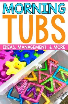 Morning tubs are a great way to start your day. This post has lots of ideas for a play based start to your day plus lots of management and storage tips. #morningtubs #morningwork #morningroutine