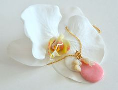 Pink  and Carved Opal Flower Necklace by luxurybyvera on Etsy, www.luxurybyvera.com