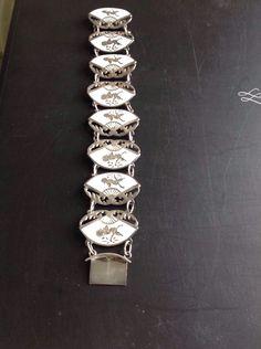 K62P KAR 925 Sterling Silver Sapphire Enameled Stone Ottoman Mens Ring 8.25