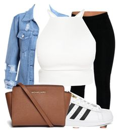 """Untitled #337"" by sashajl03 ❤ liked on Polyvore featuring adidas Originals and Michael Kors"