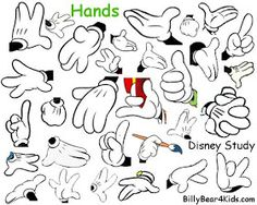 Mickey Mouse Hands or Gloves templates and printables