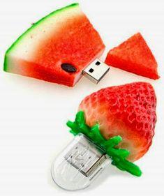 Memorias USB con forma de fruta