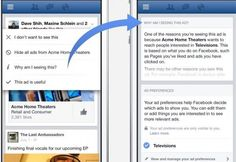 Facebook now explain why we see certain ads