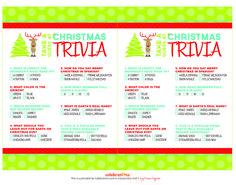 Free  Printable Christmas Trivia Games