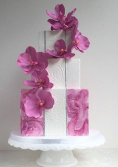 Cake by The Cake Whisperer | orchids on orchids