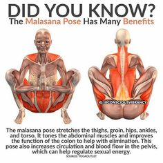 Malasana Yoga Pose Benefits #yoga #yoga pose