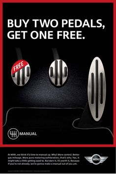 Photo: Picture 4 - MINI launches manual transmission ad campaign, lowers stick shift prices by $500