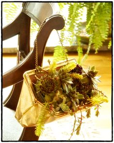 Follow this step-by-step guide to transform your evening bag or purse into a beautiful container garden.