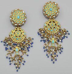 A pair of Indian chandelier earrings