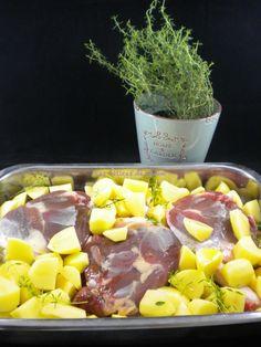 Cuisses de canard au four et ses pommes de terre fondantes