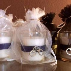 12 Custom Made Police Votive Candles. Used for a police academy graduation party. Police Officer Wedding, Police Retirement Party, Police Party, Retirement Party Decorations, Reception Decorations, Police Police, Red Fall Weddings, Police Wedding, Dream Wedding