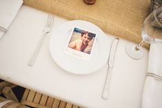 DIY Seaside Wedding Polaroid Place Settings http://bigbouquet.co.uk/