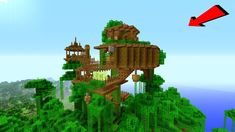 Minecraft: How To Build a JUNGLE Village / TreeHouse Tutorial [ How to m...