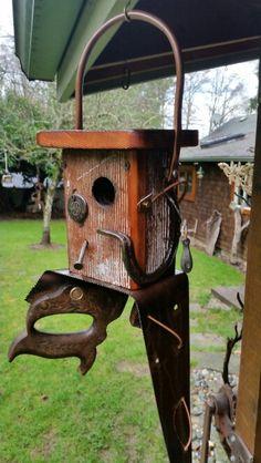 Saw / Barnwood birdhouse