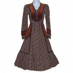 Etsy :: calicovintage :: Vintage 70s Gunne Sax Floral Velveteen Corset ...  stylehive.com
