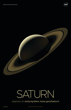Version A of the Saturn installment of our solar system poster series. Solar System Poster, Space Solar System, Solar System Exploration, Solar System Planets, Our Solar System, Space Exploration, Dwarf Planet, Space And Astronomy, Space Saturn