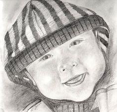 Pencil portrait  - The Sketchbook Artist  - Kim Jenkins