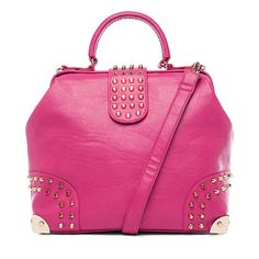 I love the Pink Cosmo Studded Structured Satchel from LittleBlackBag