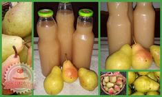 Ketchup, Pear, Baking, Fruit, Drinks, Food, Drink Recipes, Smoothie, Faces