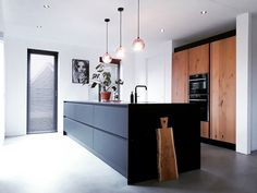 Breakfast photography table sweets 48 new Ideas Kitchen Interior, Interior Design Living Room, Kitchen Decor, Kitchen Kit, Breakfast Bar Kitchen, Black Cabinets, Minimalist Kitchen, Beautiful Kitchens, Home Kitchens