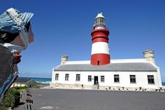 The Cape Agulhas lighthouse was built in 1848 to help reduce the fatalities at sea. It is the second oldest working lighthouse in South Africa.