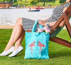 Eco Friendly Bags, Flamingo, Reusable Tote Bags, Etsy Shop, Trending Outfits, Handmade Gifts, Check, Shopping, Fashion