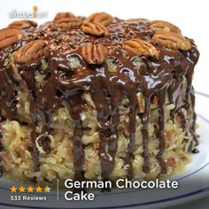 German Chocolate Cake- This one is actually pretty, they always taste good, just not the prettiest things