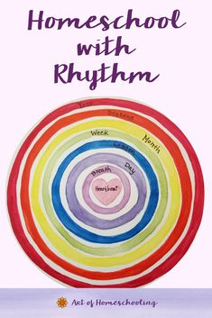 Picture the rhythms in our lives, in our homeschooling, as a series of concentric circles. This represents how to homeschool with rhythm using the natural rhythms that already exist all around us - seasonal, weekly, and daily rhythms can help us in our homeschool planning. Waldorf Preschool, Waldorf Curriculum, Waldorf Education, Preschool At Home, Early Education, Montessori Preschool, Waldorf Toys, Physical Education, Curriculum Planning
