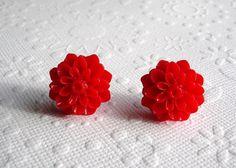 Cute red earrings from Etsy