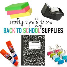 Get those back to school deals and use these craft tips and tricks for sewing and crafting! Fun ways to use glue sticks, tape, etc.!