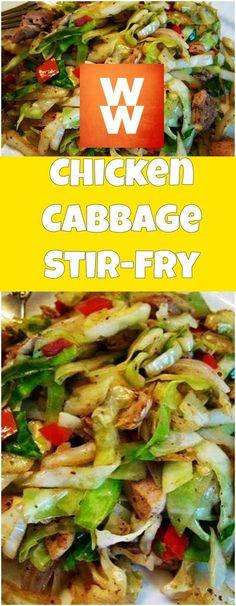 Chicken Cabbage Stir-Fry | weight watchers cooking